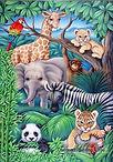 Jungle dieren cartoon
