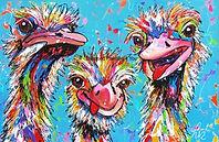 Cartoon Struisvogels