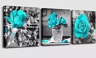 3 luiks blauwe rozen