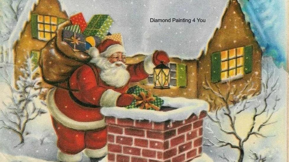 Kerstman schoorsteen