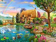Landschap regenboog