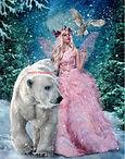 Vrouw en ijsbeer