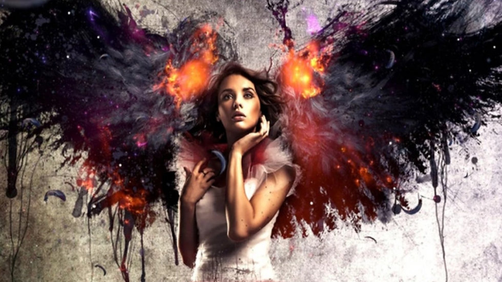 Vrouw VuurVleugels