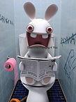 Konijn op de wc