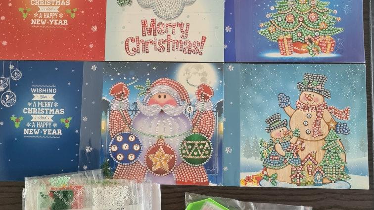 Kerst kaarten 4 stuks