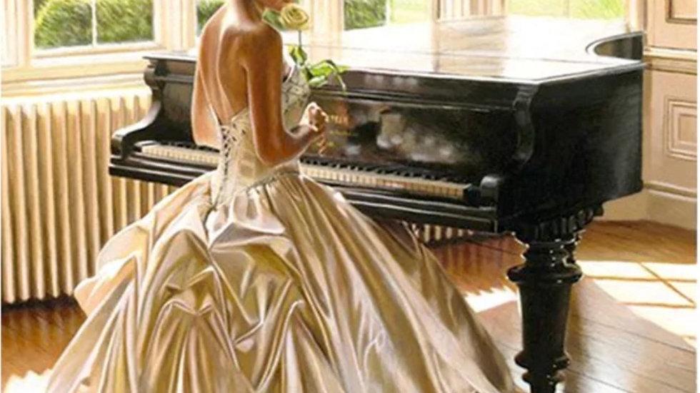 Vrouw Piano