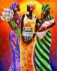3 afrikaanse vrouwen