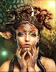 Vrouw Slangen