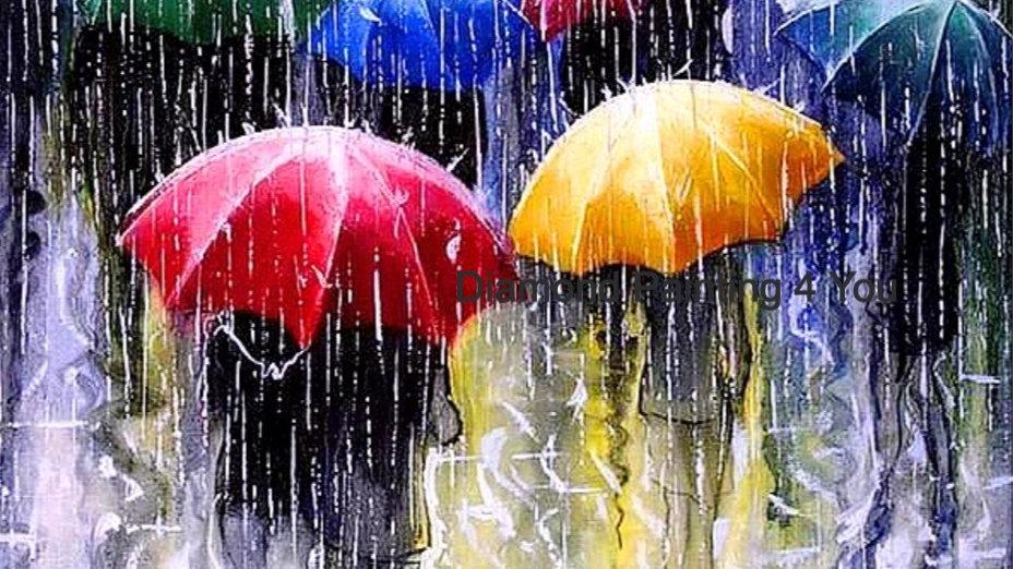 Paraplu's in regen