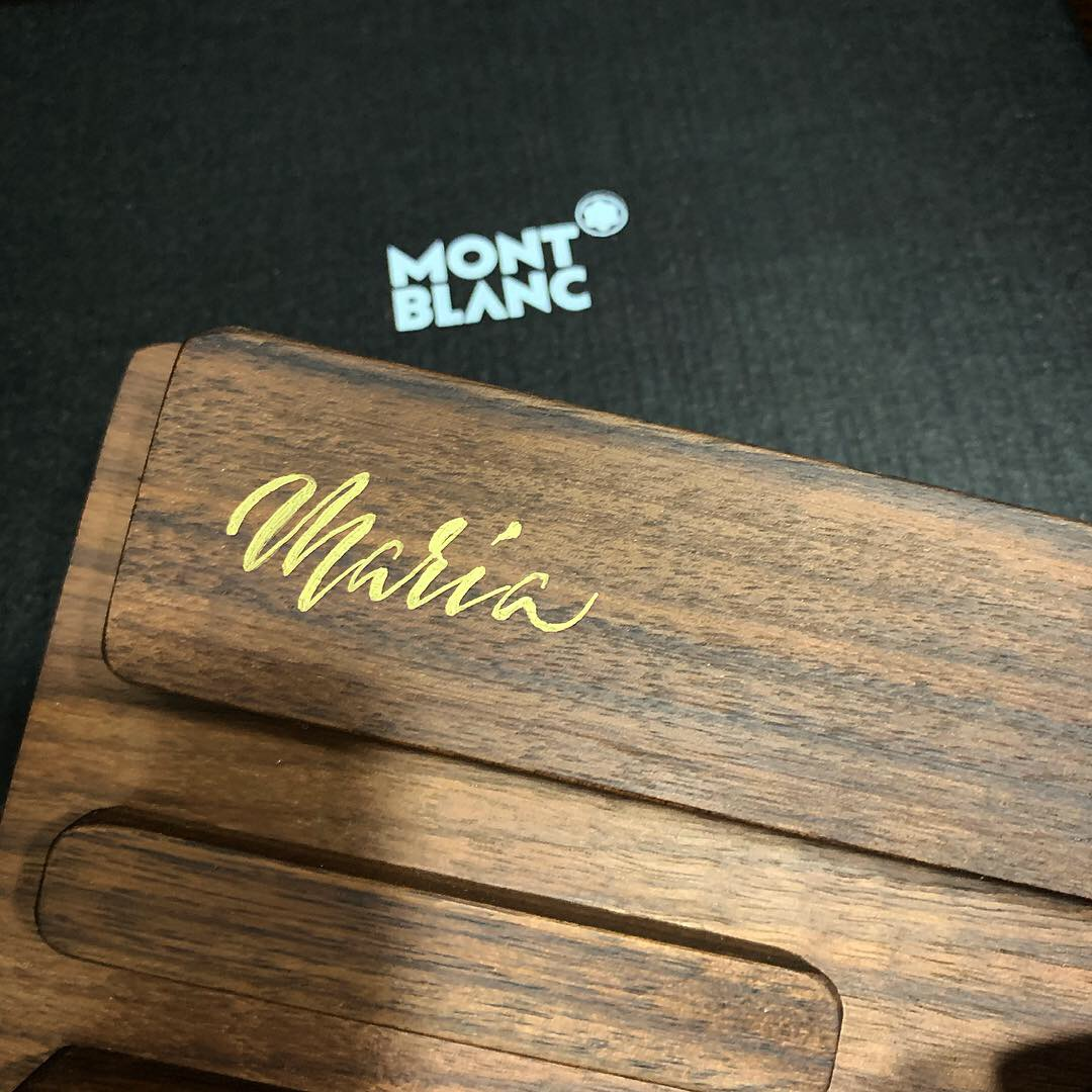Wooden phone and watch holder
