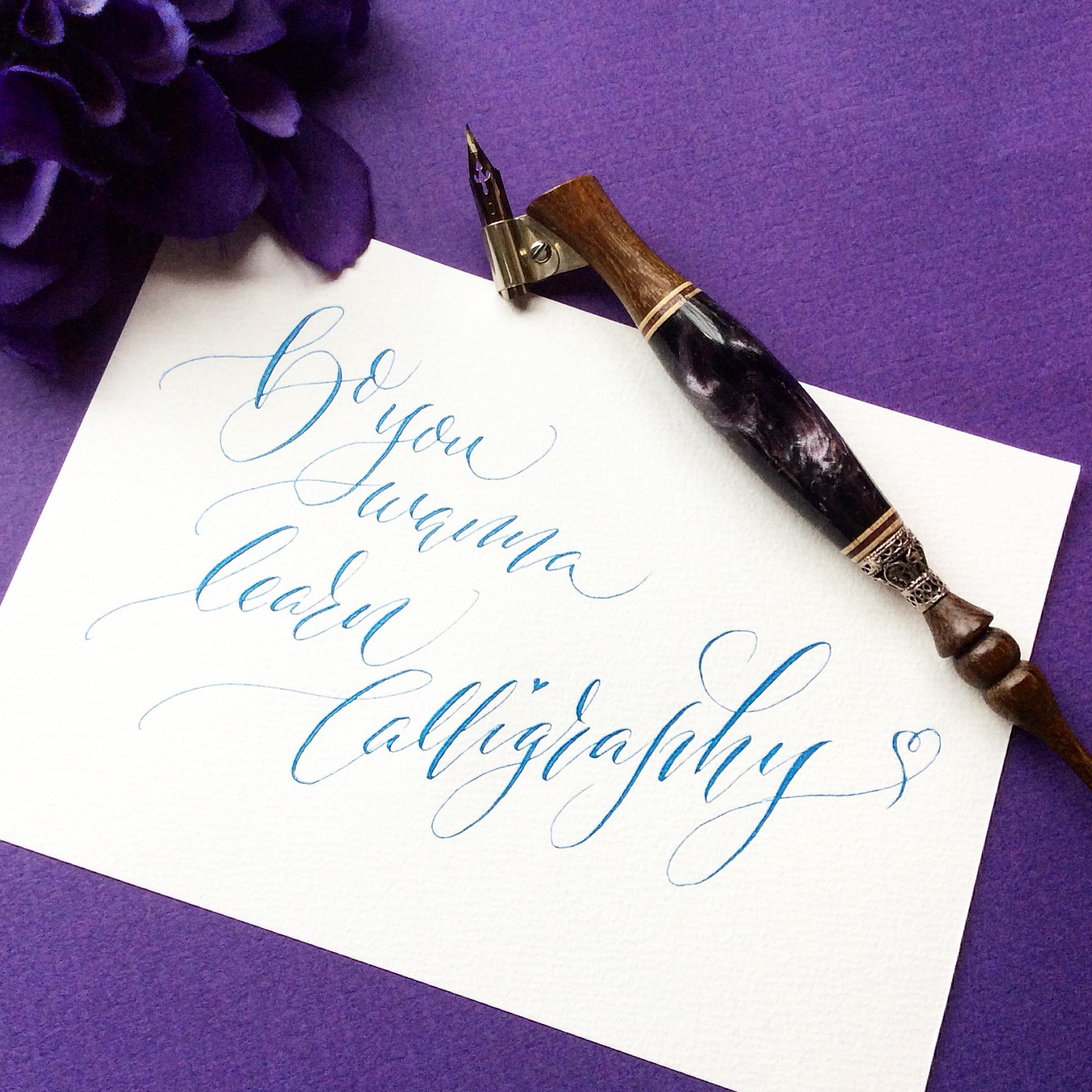 Do you wanna learn Calligraphy?