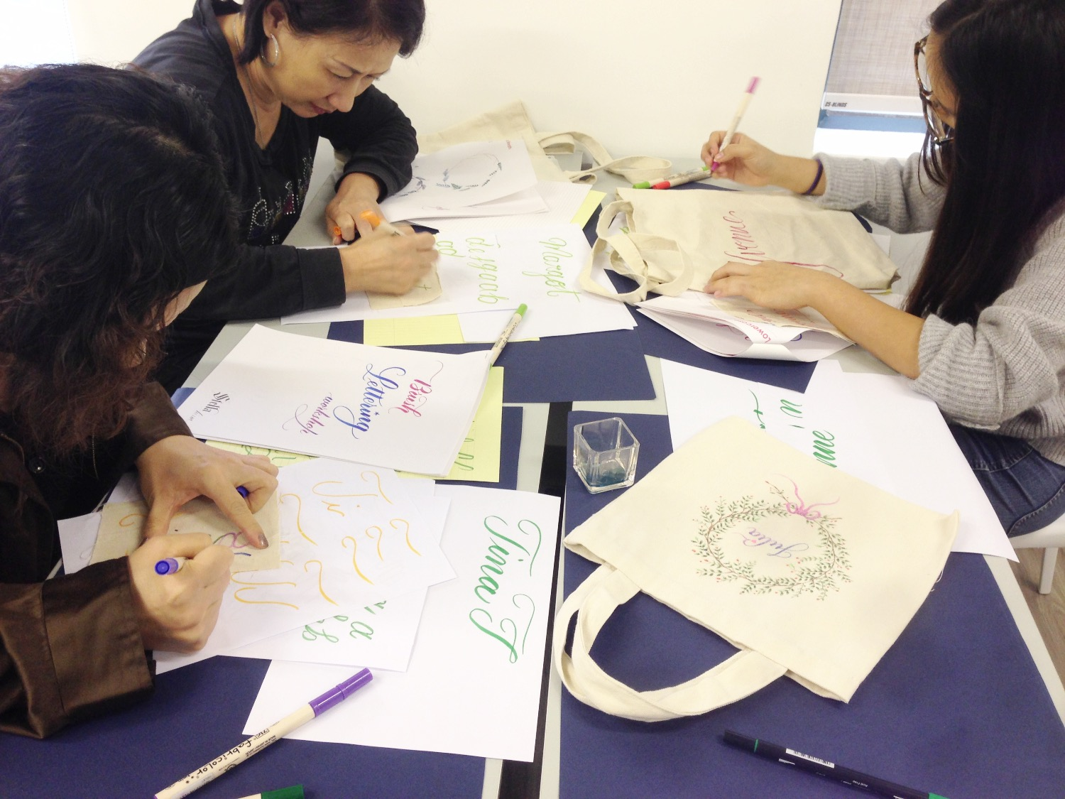 Tote Bag writing workshop