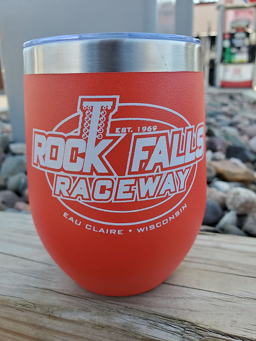 12oz Red Powder Coated Insulated Goblet
