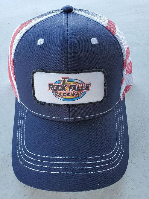 Cap America Flag Mesh Back Hat
