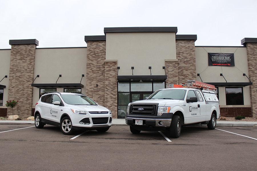 Goodland Communications work vehicles.
