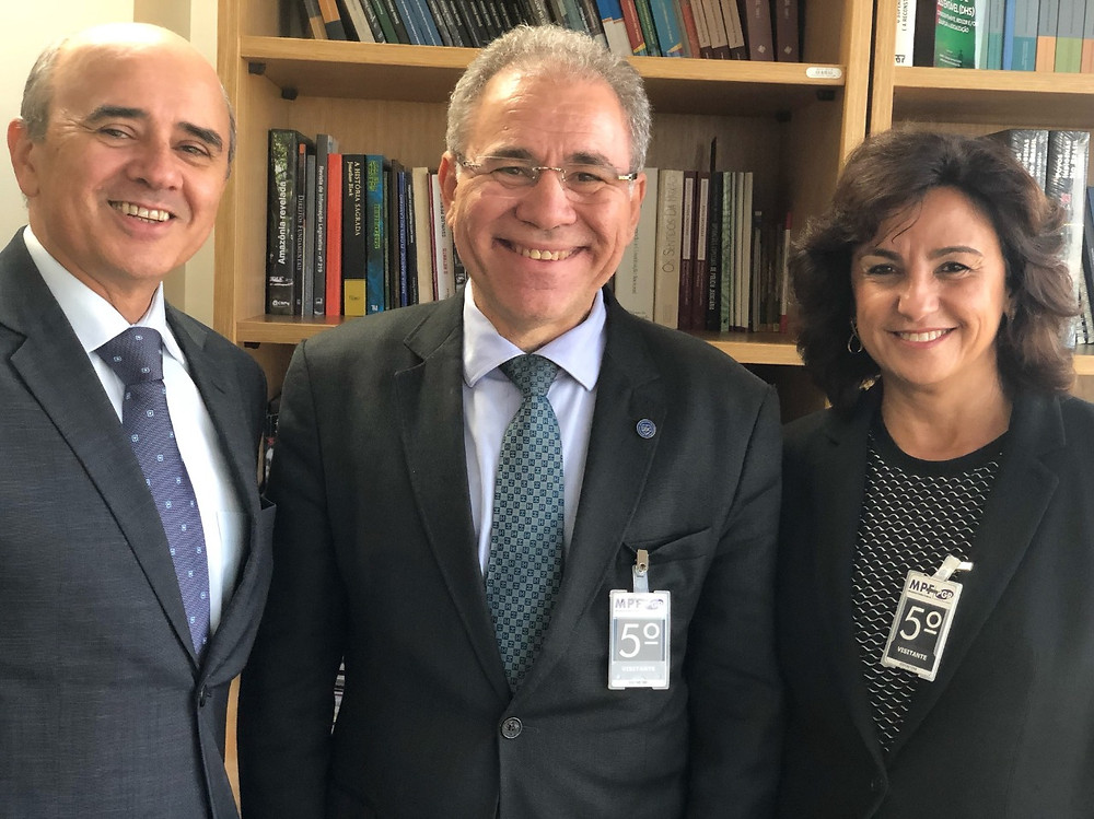 Subprocurador Geral da República Luciano Mariz Maia, Marcelo Queiroga e Gláucia Moraes.