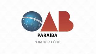 Em nota, OAB-PB repudia ataques à professora da UFPB e alunos durante defesa de dissertação mestrado