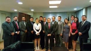 Paulo Maia e Assis Almeida recebem comitiva da Subseção de Catolé do Rocha e se reúnem com president