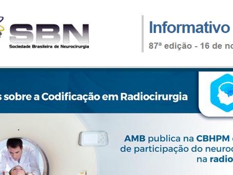 Updates sobre a Codificação em Radiocirurgia é destaque na 87º edição da Newsletter SBN. Confira!