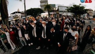 OAB-PB realiza desagravo público contra policiais que agrediram advogado em Guarabira