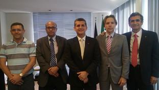 Presidente da OAB-PB se reúne com representantes do sindicato dos bancários