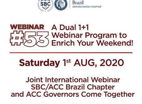 2nd Joint International Webinar SBC/ACC Brazil Chapter/SBC-MG and ACC Texas Chapter