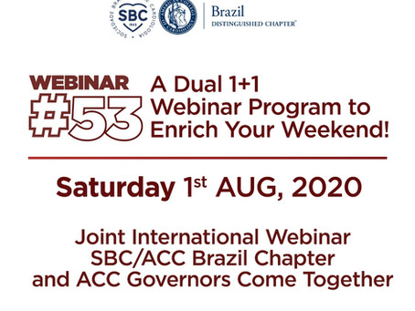 2nd Joint International Webinar SBC/ACC Brazil Chapter/SBC-MG and ACC Texas Chapter
