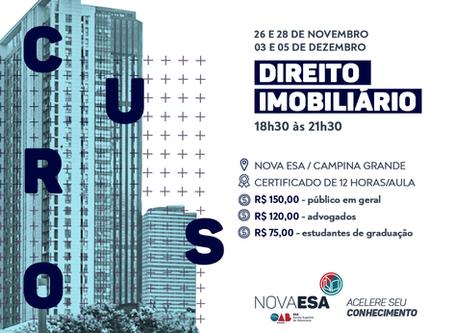 Curso de Direito Imobiliário - Inscrições Abertas!
