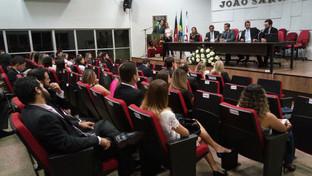Curso de Oratória Jurídica promovido pelo Núcleo de Apoio ao Estagiário lota auditório da OAB-PB