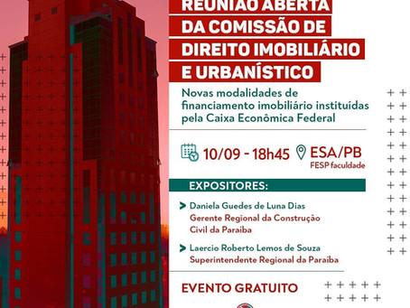 REUNIÃO ABERTA DA COMISSÃO DE DIREITO IMOBILIÁRIO E URBANÍSTICO