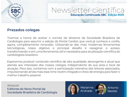A Agenda Científica é a prioridade: SBC terá 2 Newsletters científicas por mês