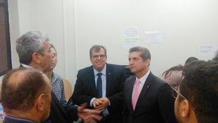 Paulo Maia visita sala do Advogado no Fórum Afonso Campos em Campina Grande