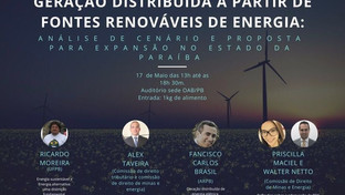 OAB-PB realiza ciclo de debates sobre Geração Distribuída na Paraíba