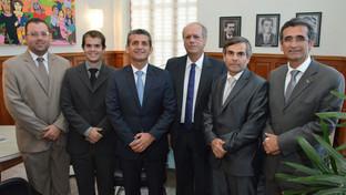 Paulo Maia e Assis Almeida visitam vice-presidente do TJPB e discutem parcerias entre as duas Instit