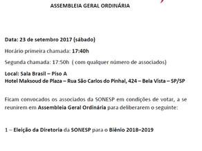 Edital de Convocação 23/09/2017 – Assembleia Geral Ordinária