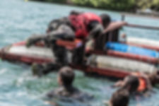 parcours nautique d'aguerrissmeent du 33ème RIMa (CNEF)