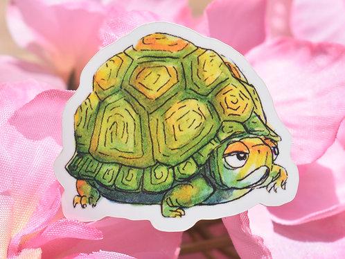 Grumpy Turtle - Sticker