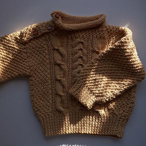 Pletený svetr pro malé houbaře _béžový