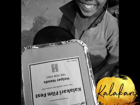 Kalakari film festival community donates food meal box to needs in this pandemic kalakari