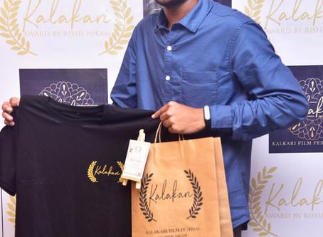Virtual launching ceremony of kalakari film festival merchandise by rishi nikam