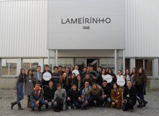 Alunos do 9º ano visitaram as instalações da industria A Lameirinho