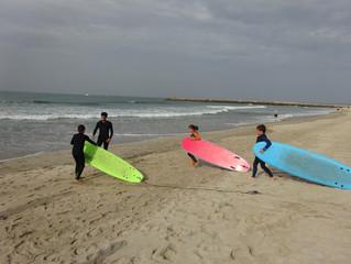 Domingo divertido de surf