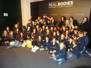 Alunos do 3º e 4º ano visitaram a exposição Real Bodies