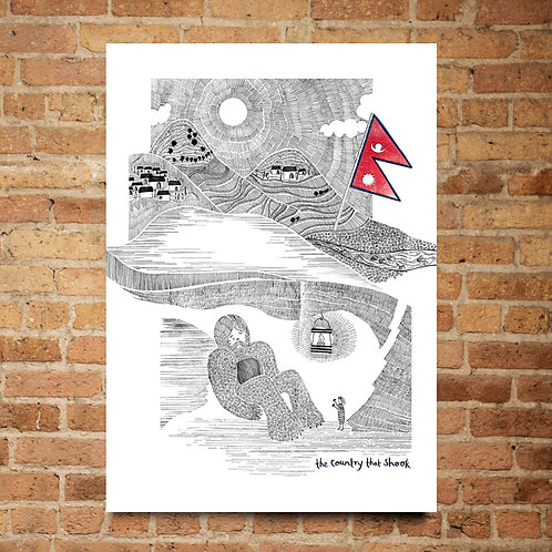 A2 Limited Edition Print of The Country That Shook