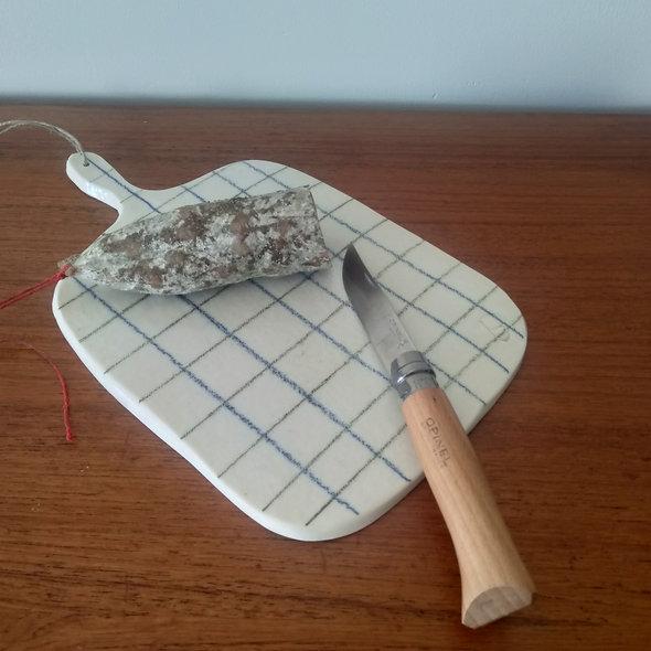 Planche en porcelaine motif vintage