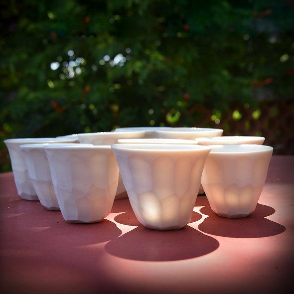 Tasse à café Porcelaine taillée