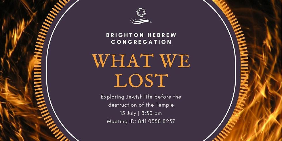 Shiur - What we lost