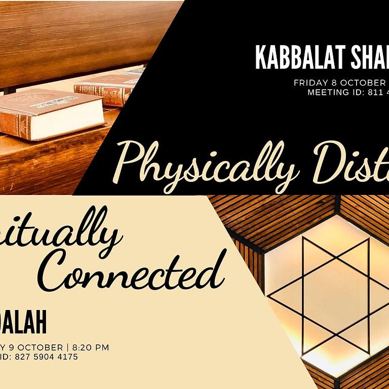 Kabbalat Shabbat and Havdalah - 8 and 9 October