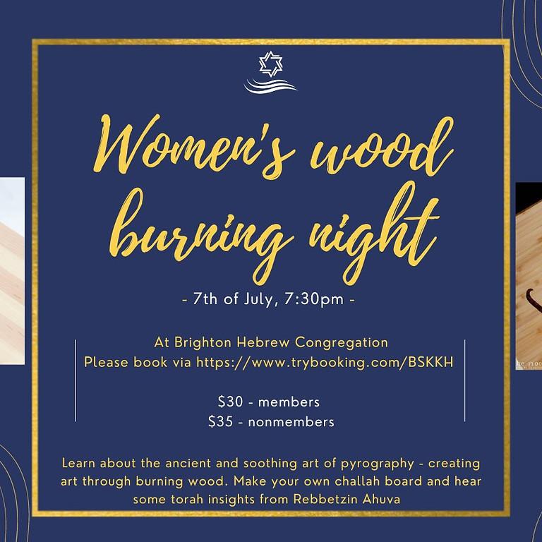 Women' Wood Burning Night