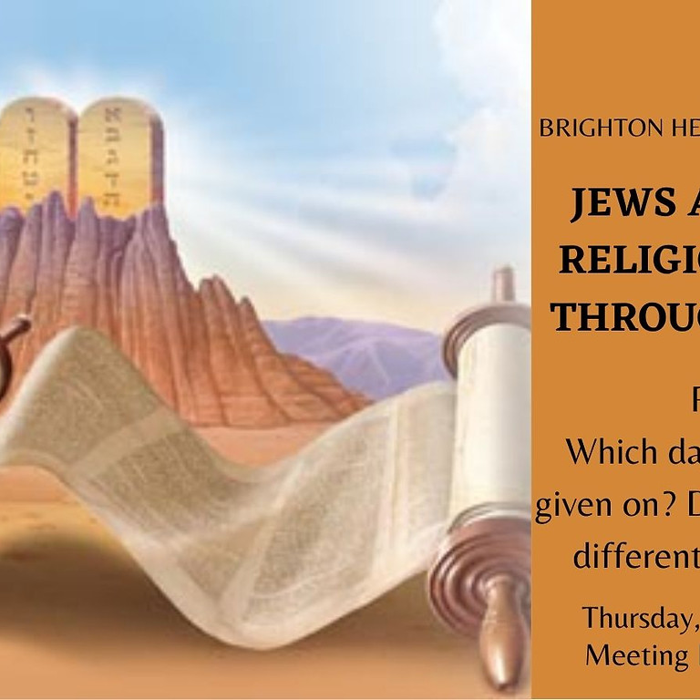 Shiur - Jews and other religions - Giving of the Torah on Mount Sinai
